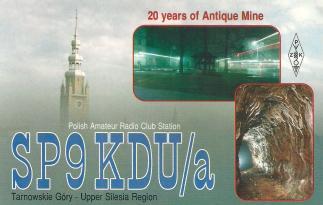 2. Okolicznościowa karta QSL SP9KDU/a (1995 r.)