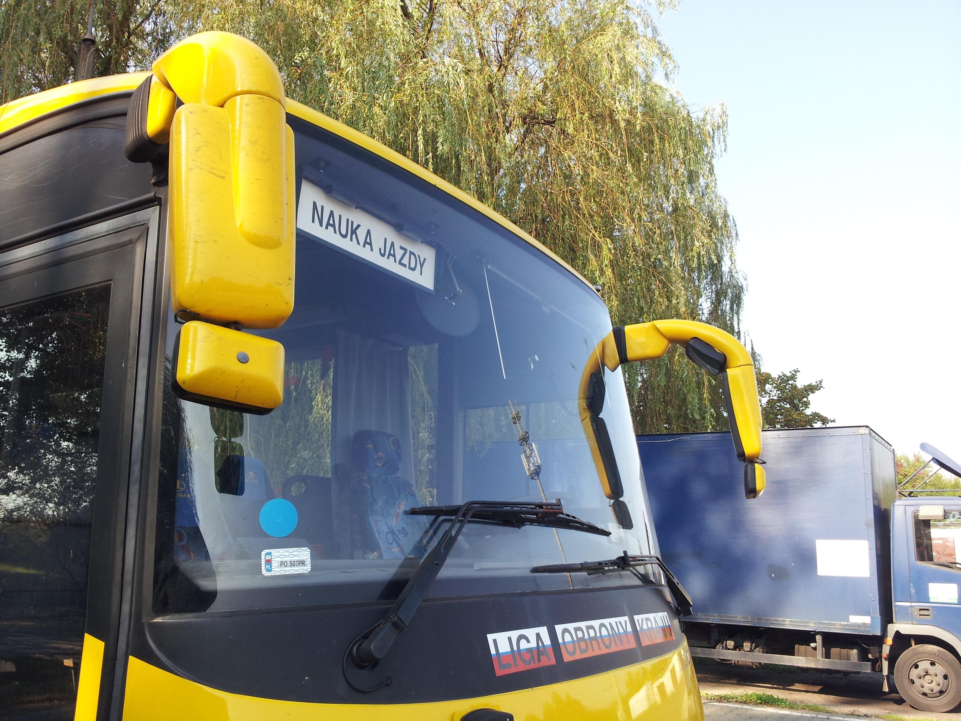 Pojazd wykorzystywany do szkolenia na kategori D